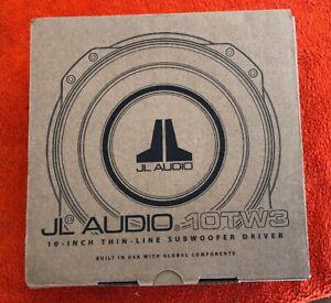 "JL AUDIO 10TW3-D4 DUAL 4 OHM 10"" SHALLOW SLIM MOUNT THIN SUBWOOFER SPEAKER NEW"