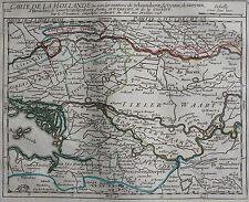 CARTE DE LA HOLLANDE,  ROBERT, ORIGINALE DE 1748, SCHOONHOVE UYANE , GORCUM ,