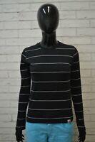 Maglia Nera CARHARTT Manica Lunga Polo Donna Taglia S Shirt Woman Jersey Frau