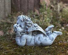 Steinfigur Gartenfigur Grabschmuck liegender Engel frostfest wetterfest Grab
