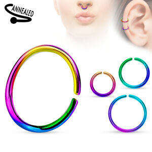 Women Men Body Jewelry Fake Septum Clip On Non Piercing Nose Ring NEW