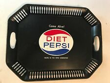Vintage Diet Pepsi Cola Advertising Metal Serving Tray Platter *Good Condition*