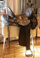Miles City Antique Western Saddle High Back, Loop Back, by Charles Coggshall