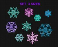 Machine embroidery design SET Snowflakes Embroidery design Winter 9 designs