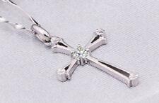 Markenlose versilberte Modeschmuck-Halsketten & -Anhänger mit Zirkon-Hauptstein