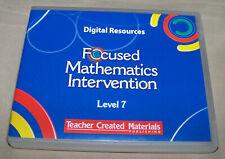 Focused Mathematics Intervention Level 7 Teacher Created Materials Digital Resou