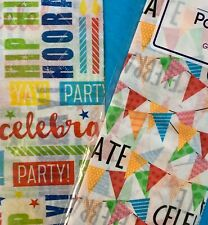 Voila Gift Wrap Tissue Paper Birthday Celebration Party Supplies 2 Packages- New