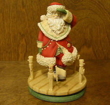 The Heart of Christmas #4034454 SANTA w/ SPINNER TOY SOLDIERS, NIB by Karen Hahn