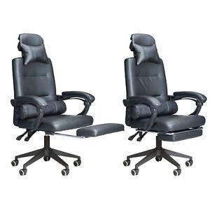 Comfurni Ergonomischer Bürostuhl Gaming Stuhl mit Fußstütze Computerstuhl
