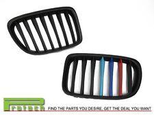/// M Tri 3 Color Matte Black Front Grille Grill For BMW X1 E84 2010-2014