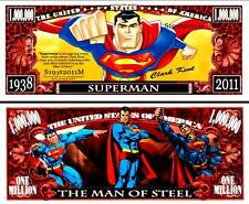 Superman Million Dollar Bill #S19382011M Collectible Funny Money Novelty Note