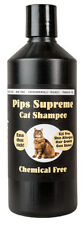 Pips Supreme Cat Shampoo 500ml. Will ease itching & remove dirt & grime.