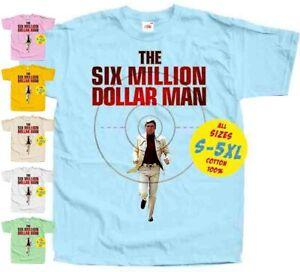 The Six Million Dollar Man V1 MOVIE POSTER MEN T SHIRT ALL SIZES S-5XL
