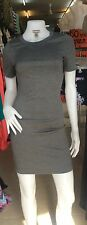Ladies H&M Body-con Grey Short Sleeves Casual Evening  Dress 8-10