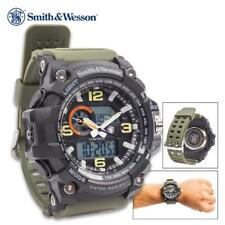 Smith & Wesson OD Green Military Combat Water Resist LCD Chronograph Alarm Watch