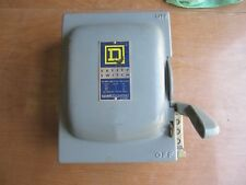 Square D single throw Safety Switch 120-600 V.a.c. Catalog # HU-361 series A2
