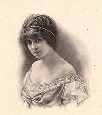 Portrait Edmée Favart Soprano Opera Comique