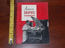 ANSCO GRAPHIC HANDBOOK 1951 PHOTOGRAPHY FILMS GRAPHIC ARTS
