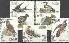 Timbres Oiseaux Madagascar 1024/30 o lot 18936