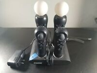Lot of 2 OEM Sony Playstation 4  CECH-ZCM1U/ 2 Navigation controller/ charger