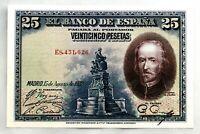 Spain-Billete. Calderon de la Barca. 25 Pesetas 1928. Madrid. SC/UNC
