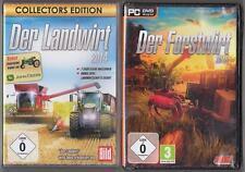Der Landwirt 2014 Collectors Edition Bauernhof + Der Forstwirt 2015 Sammlung PC