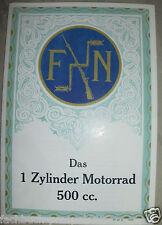 1926/27 FN 500 MODELL M 67 HERSTAL BELGIEN STANDARD CONFORT PROSPEKT OLDTIMER