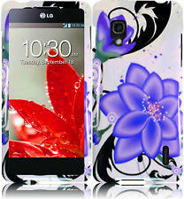 For Sprint LG Optimus G HARD Protector Case Snap On Phone Cover Purple Lily