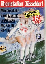 BL 89/90 Fortuna Düsseldorf - Bayer 04 Leverkusen