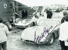 David Piper Hand Signed Ferrari Photo 8x6.