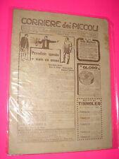 CORRIERE DEI PICCOLI anno 1910 n. 19 con sovracopertina pubblicitaria