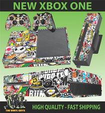 XBOX ONE Console AUTOCOLLANT Stickerbomb Version 2 SKIN & 2 Pad Stickers