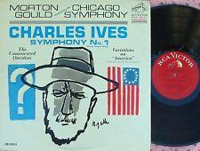 Morton Gould ORIG US LP Charles Ives Symphony No.1 NM DG RCA Red Seal LM2893