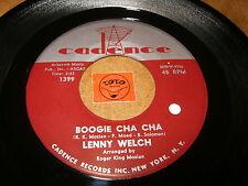LENNY WELCH - BOOGIE CHA CHA - CHANGA ROCK -  LISTEN - ROCK LATIN POPCORN