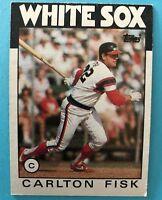 1986 TOPPS CARLTON FISK BASEBALL CARD #290 Chicago White Sox HOF