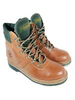 Hodgman Classic Wading Fly Fishing Boots Brown Leather Felt Sole Mens Size 8