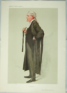 "Original VANITY FAIR Legal PRINT: ""Good Form"" - JOHN ELDON BANKES:  SPY 1906"