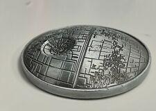 3D Death Star Wars Silver Coin Evil Darth Vader Science Fiction Films Fantasy UK