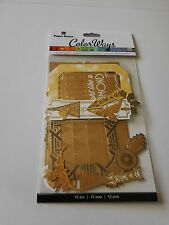 Scrapbooking Crafts Stickers Paper House Colorways Gold Accent Die Cuts Frame