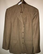 VITTORIO St. ANGELO Men's Sports Coat 44L 4 Button Rust Jacket Blazer