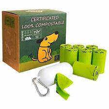 Dog Poop Bag, Home Compostable Pet Waste Bags, With 1 Dispenser (120 count)