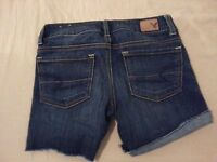 Womens American Eagle Outfitters Denim Shorts 00 Jean