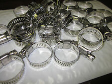 """25pc 1-1/4"""" CLAMP STAINLESS STEEL HOSE CLAMPS 7/8"""" - 1-1/4"""" GOLIATH INDUSTRIAL"""