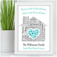 A House is Made of Walls and Beams Personalised New Home Family Christmas Gifts