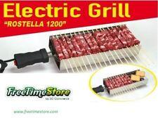 Rosticcera Elettrica Rostella 1200W Electric Grill barbecue spiedini