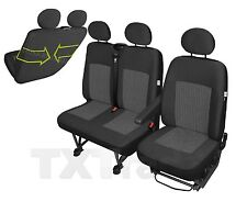Sitzbezüge Schonbezüge SET EQQ Iveco Daily Stoff dunkel grau