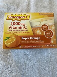 Emergen-C Vitamin C 1000mg Super Orange Flavor Dietary Supplement Powder 30 Pack