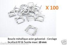 Boucle Métal acier galvanisé - Cerclage feuillard PP & Textile: 19 mm (par 100)