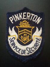 RARE VINTAGE PINKERTON SERVICE OF SECURITE CANADA JACKET PATCH