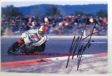 PHOTO cm10x15 SIGNED by Giacomo Agostini YAMAHA YZR500 FRENCH GP MOTORCYCLE 1975